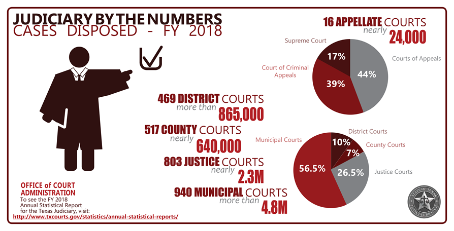 Judiciary by the Numbers 2018 (Infographic)